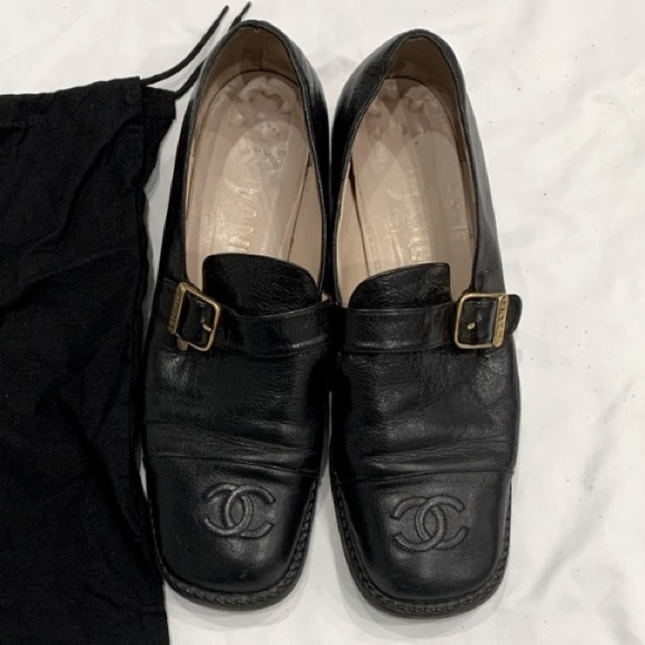 ISO Black Chanel Loafers